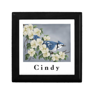 Personalized Blue Jay Keepsake Box