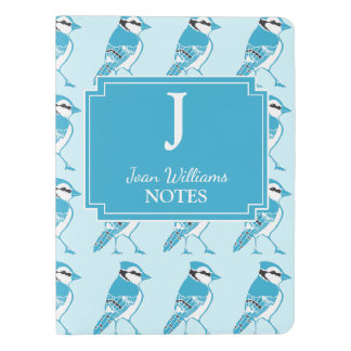 Personalized Blue Jays Print Monogram Notebook