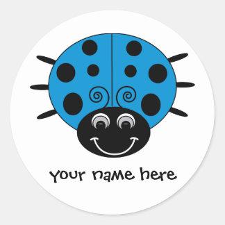 Personalized Blue Ladybug Sticker