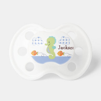 "Personalized ""Blue Lagoon Seahorse"" Pacifier"