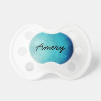 Personalized Blue Mandala Baby Pacifier