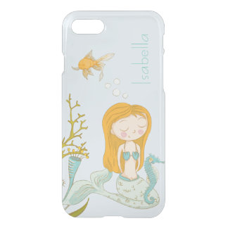 Personalized Blue Mermaid Ocean Clear iPhone case