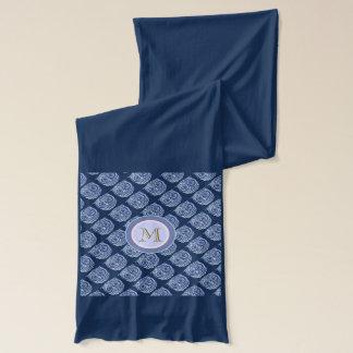 personalized blue owl birds scarf