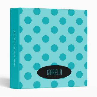 Personalized: Blue Polka Dot Binder