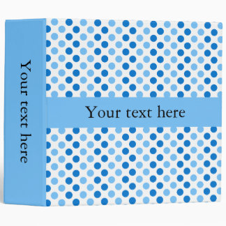Personalized Blue Polka Dots 3 Ring Binder