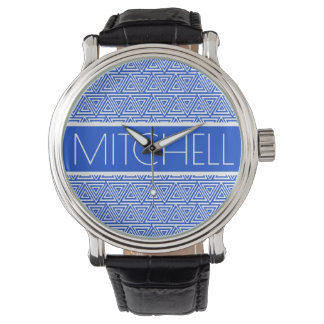 Personalized Blue POTP Watch