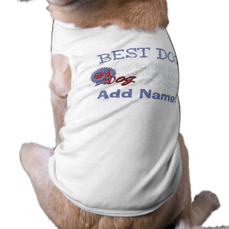 Personalized Blue Ribbon Dog Tshirt