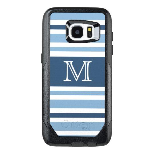 Personalized Blue Stripes Monogram