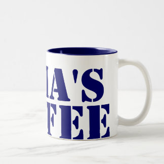 Personalized Blue Two-Tone Coffee Mug