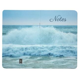 Personalized Blue White Ocean Waves Crashing Journal