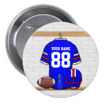 Personalized Blue WR Football Grid Iron Jersey