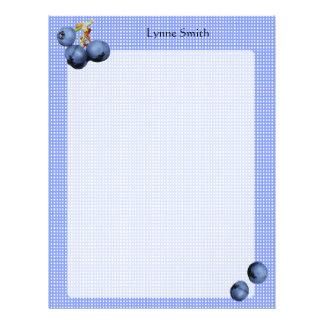 Personalized Blueberries Letterhead
