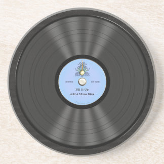 Personalized Bluegrass Vinyl Record Coaster