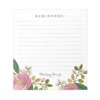 Personalized | Blush Bouquet Notepad
