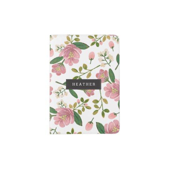 Personalized | Blush Bouquet Passport Holder