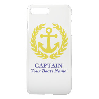 Personalized boat and captain iPhone 7 plus case