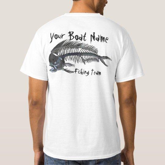 Personalized Boat Name Mahi Fishbones T-Shirt