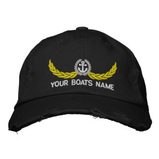 Personalized boating or sailing embroidered hat