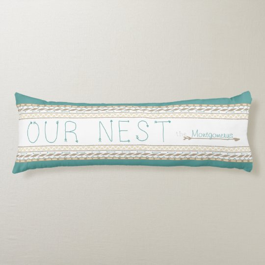 Personalized Body Pillow Arrow Print Our Nest