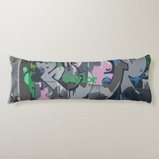 Personalized Body Pillow Graffiti Print Colour