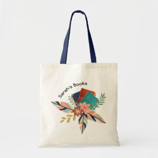 Personalized Boho Book Bouquet Tote Bag