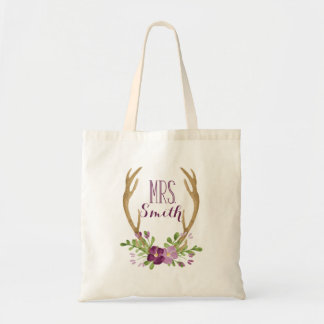 Personalized Boho Mrs. Tote Bag