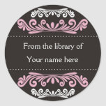 Personalized Bookplates - Colourful Flourishes Round Sticker