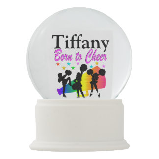 PERSONALIZED BORN TO CHEER SNOW GLOBE