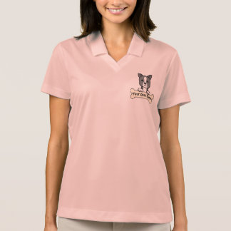 Personalized Boston Terrier Polo T-shirt