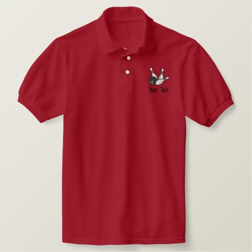 Personalized Bowling shirt Embroidered Polo Shirt