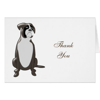Personalized Boxer Design Thank You Card