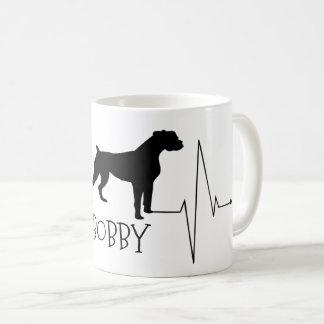 Personalized Boxer Love My Dog Heart Beat Coffee Mug