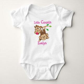Personalized Boy, Girl Monkeys Little Cousin Baby Bodysuit