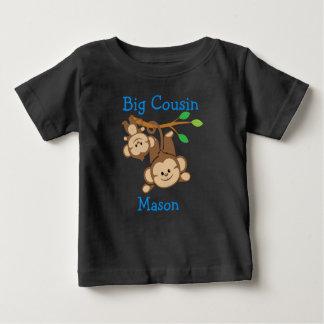Personalized Boy Monkeys Big Cousin Baby T-Shirt