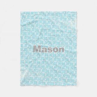 Personalized Boy Room Modern Teepee Arrow Pattern Fleece Blanket