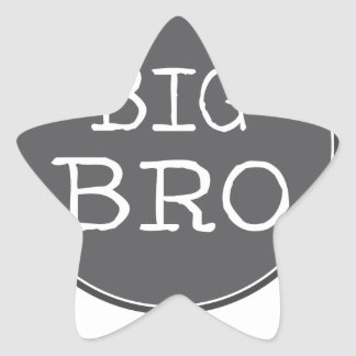 Personalized Boys Big Brother Gifts Star Sticker