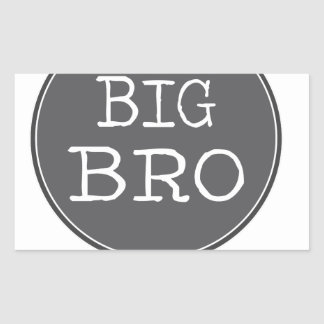 Personalized Boys Big Brother Gifts Rectangle Stickers