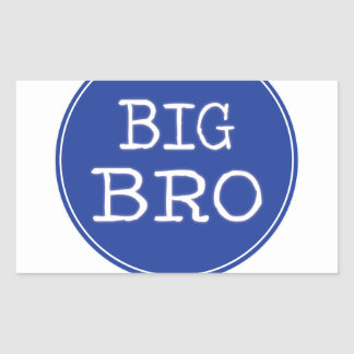 Personalized Boys Big Brother Shirts Rectangle Sticker