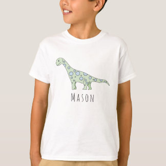 Personalized Boy's Cool Doodle Dinosaur with Name T-Shirt