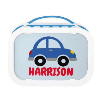 Personalized boy's lunch box with cute toy car