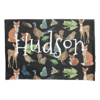 Personalized Boy's Room Forest Creatures Pillowcase
