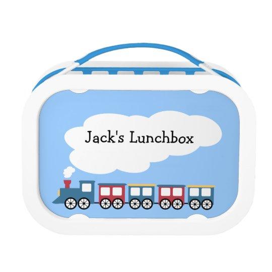Personalized Boys Train Lunchbox