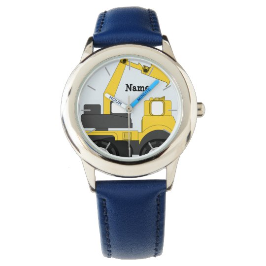 Personalized Boys Watch DIGGER TRUCK add name