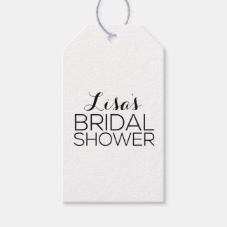 Personalized Bridal Shower Favor Pack Of Gift Tags