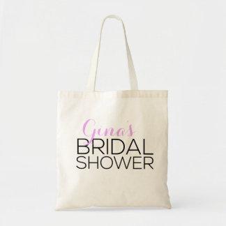 Personalized Bridal Shower Favor Tote Bag