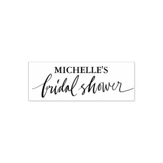 Personalized bridal shower self inking stamp