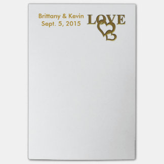 Personalized Bride and Groom Post-it Notes