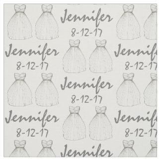 Personalized Bride Bridal Shower Wedding Fabric