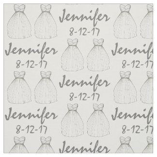 Personalized Bride Bridal Shower Wedding Gown Fabric
