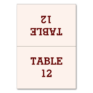 Personalized Bride & Groom Folded Table Card